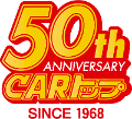 50th CARトップ since 1968 ロゴ