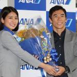【画像】インディ500優勝の佐藤琢磨選手が成田に凱旋帰国!