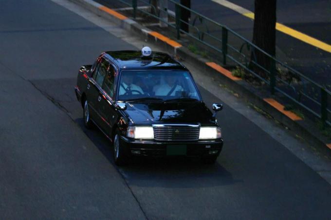 タクシー助手席