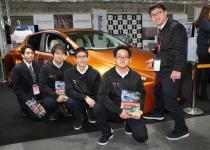 【大阪オートメッセ2018】日産京都自動車大学校の学生が名機SR20のメーカーチューンドNAを搭載した初代サニークーペを制作!