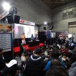 【画像】迫力のエンジンサウンドが響き渡る! スーパーGTがチャンピオンマシンを展示【大阪オートメッセ2018】
