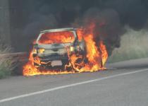 車両火災は年間1293件! クルマに消火器は積んでおくべきか