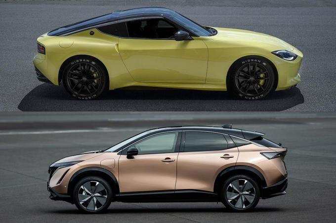 電動化の象徴「アリア」とエンジンスポーツの雄「フェアレディZ」! 両極端な2車は日産を救えるか?