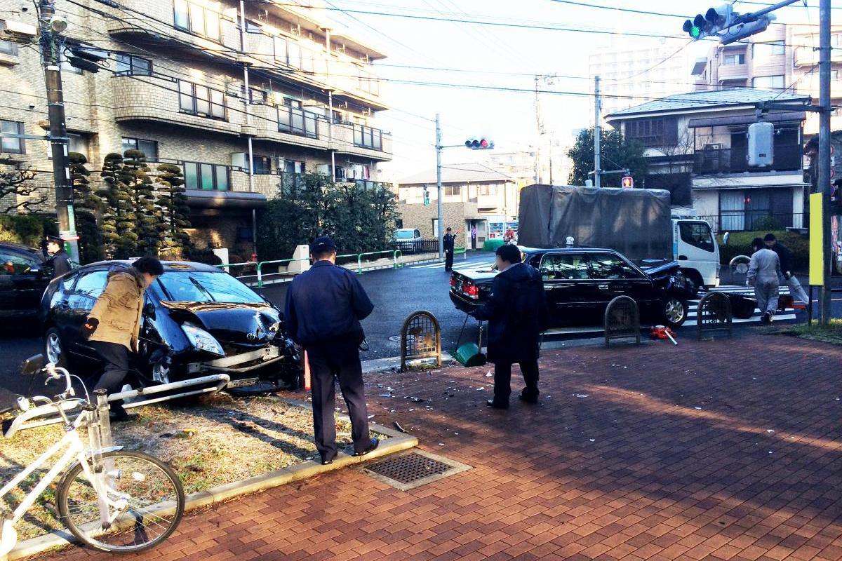 タクシードライバーの事故