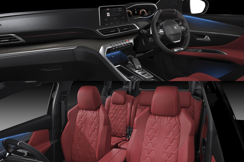 赤いナッパレザーのシートが刺激的! プジョー3008と5008に特別仕様車を設定